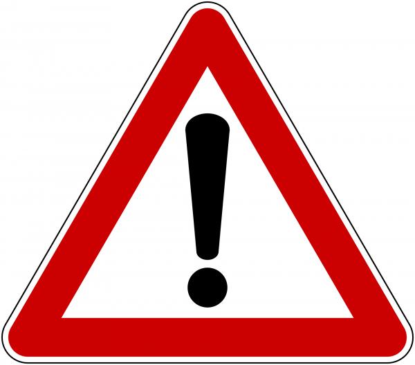 Symbol: Vorsicht